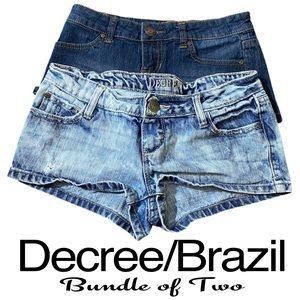 Bundle of Women's Blue Denim Short Shorts Size 1